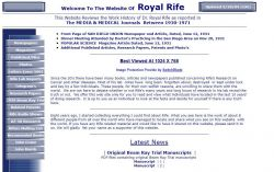 Website Of  Royal Rife, by Stan Truman
