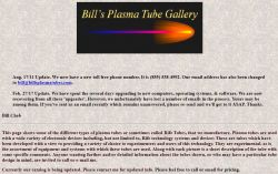 Bill Cheb's Plasma Tube Gallery